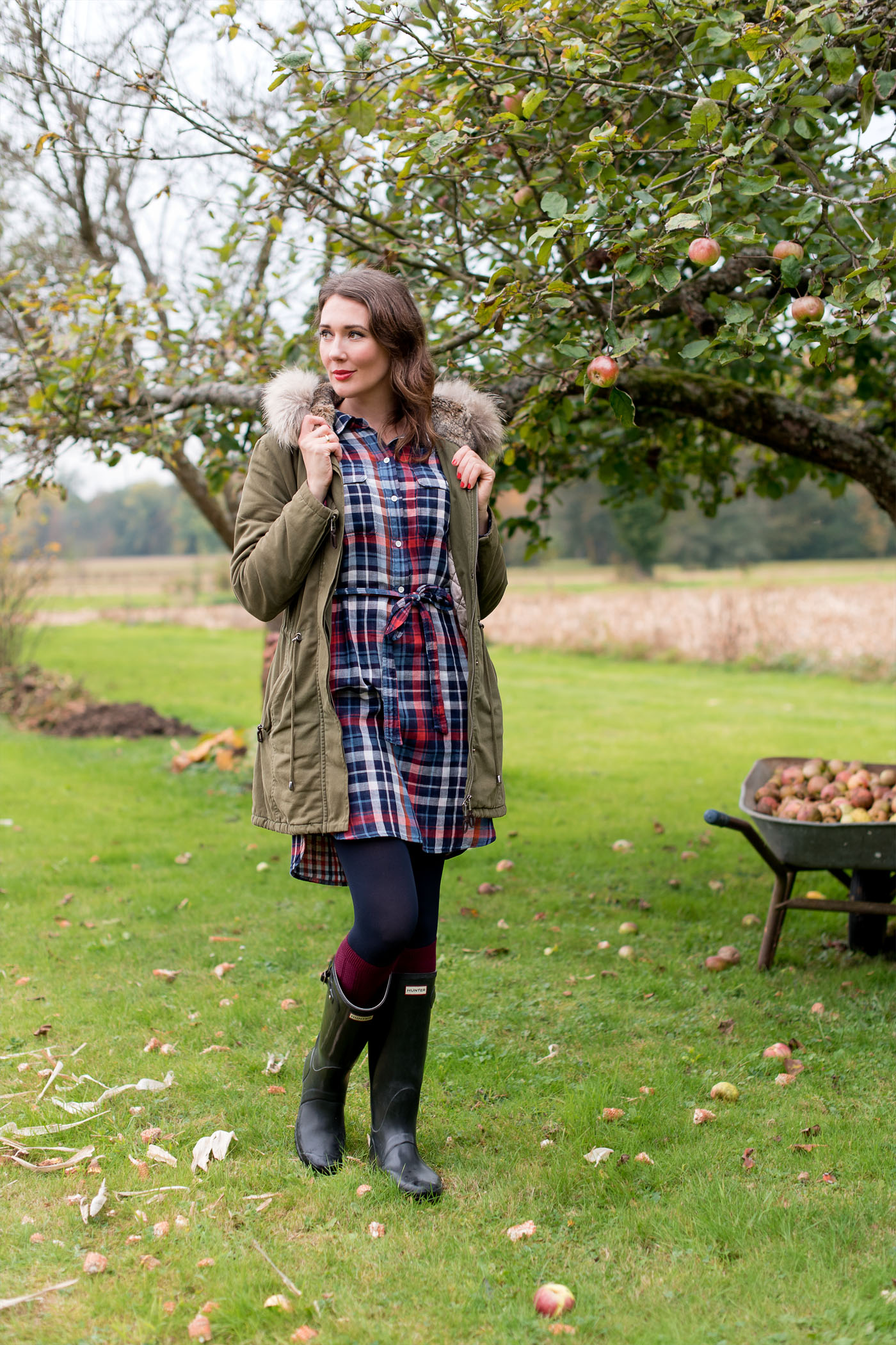 outfit 39 autumn flowers and hunterboots 39 mood for style fashion food beauty. Black Bedroom Furniture Sets. Home Design Ideas