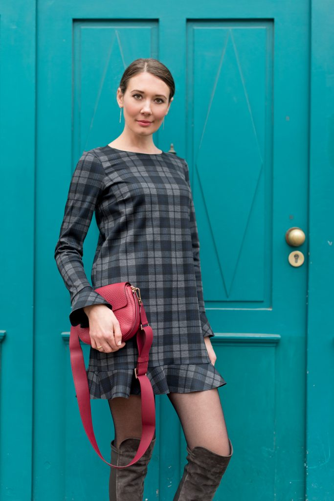 outfit zara mini plaid dress furla club bag mood for style fashion food beauty. Black Bedroom Furniture Sets. Home Design Ideas