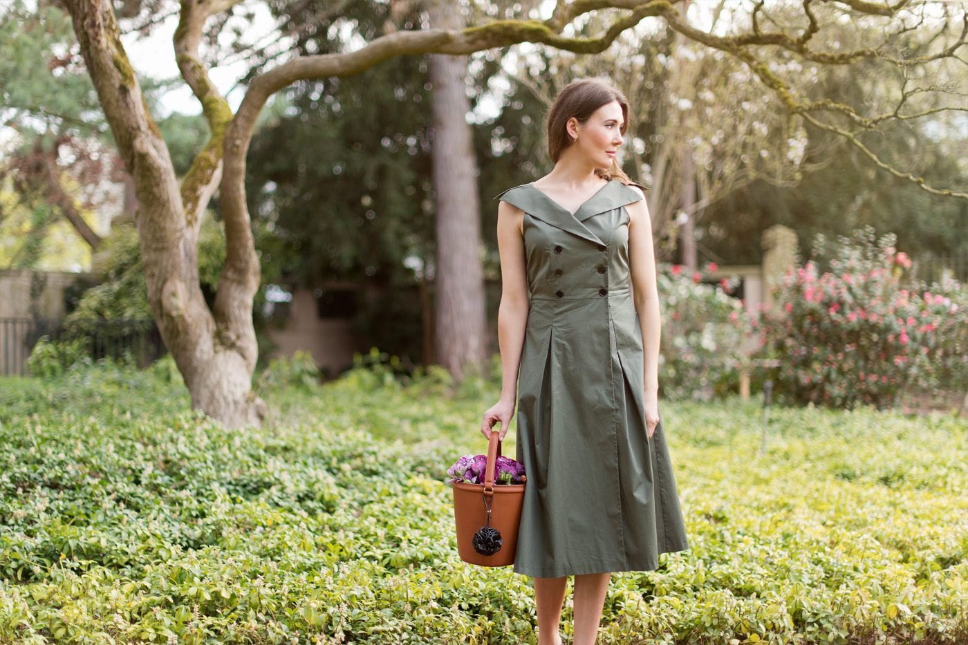 Outfit: Olive Midi Dress
