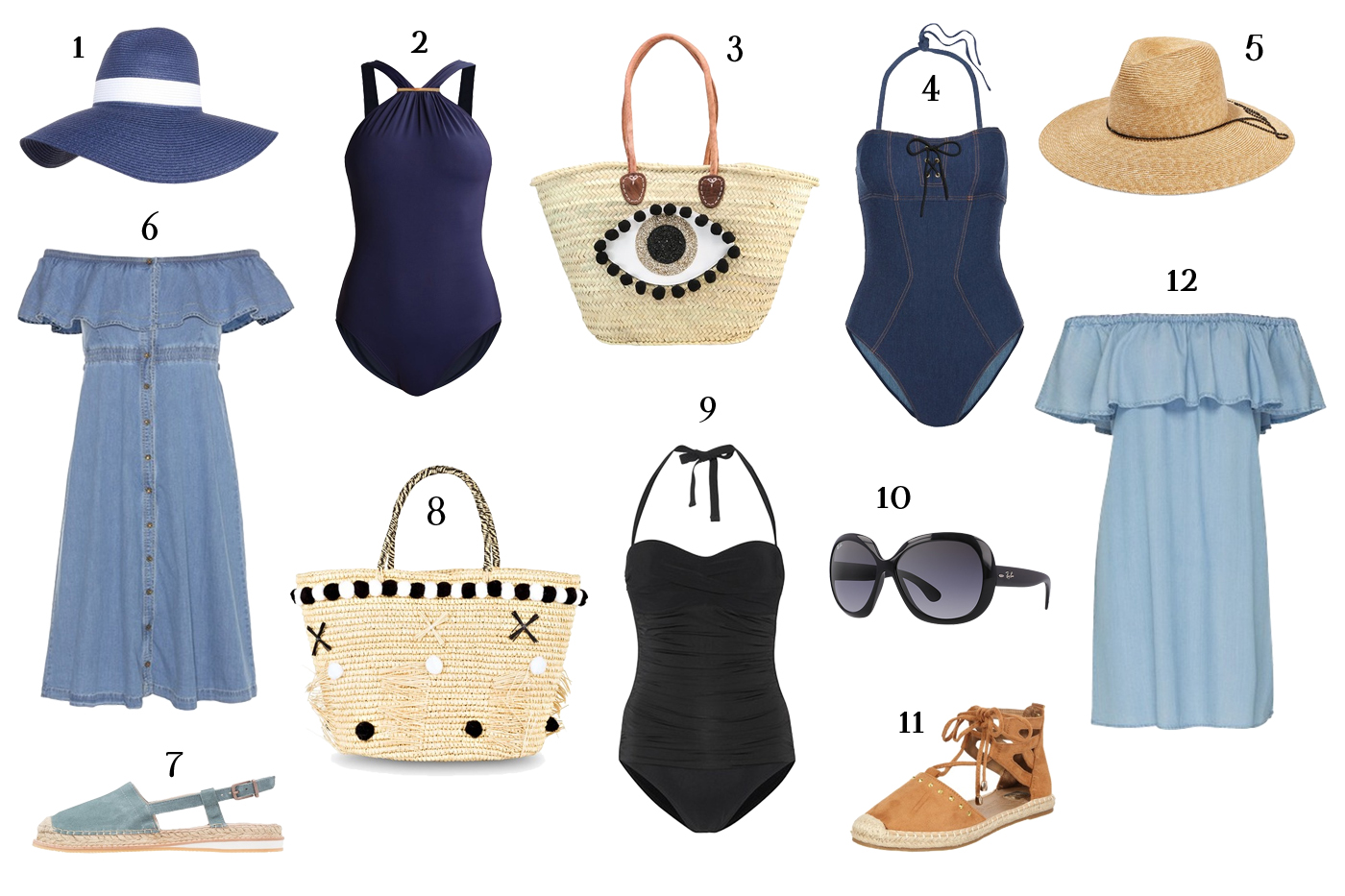 Fashion: 12 Pieces for a Perfect Beach Day