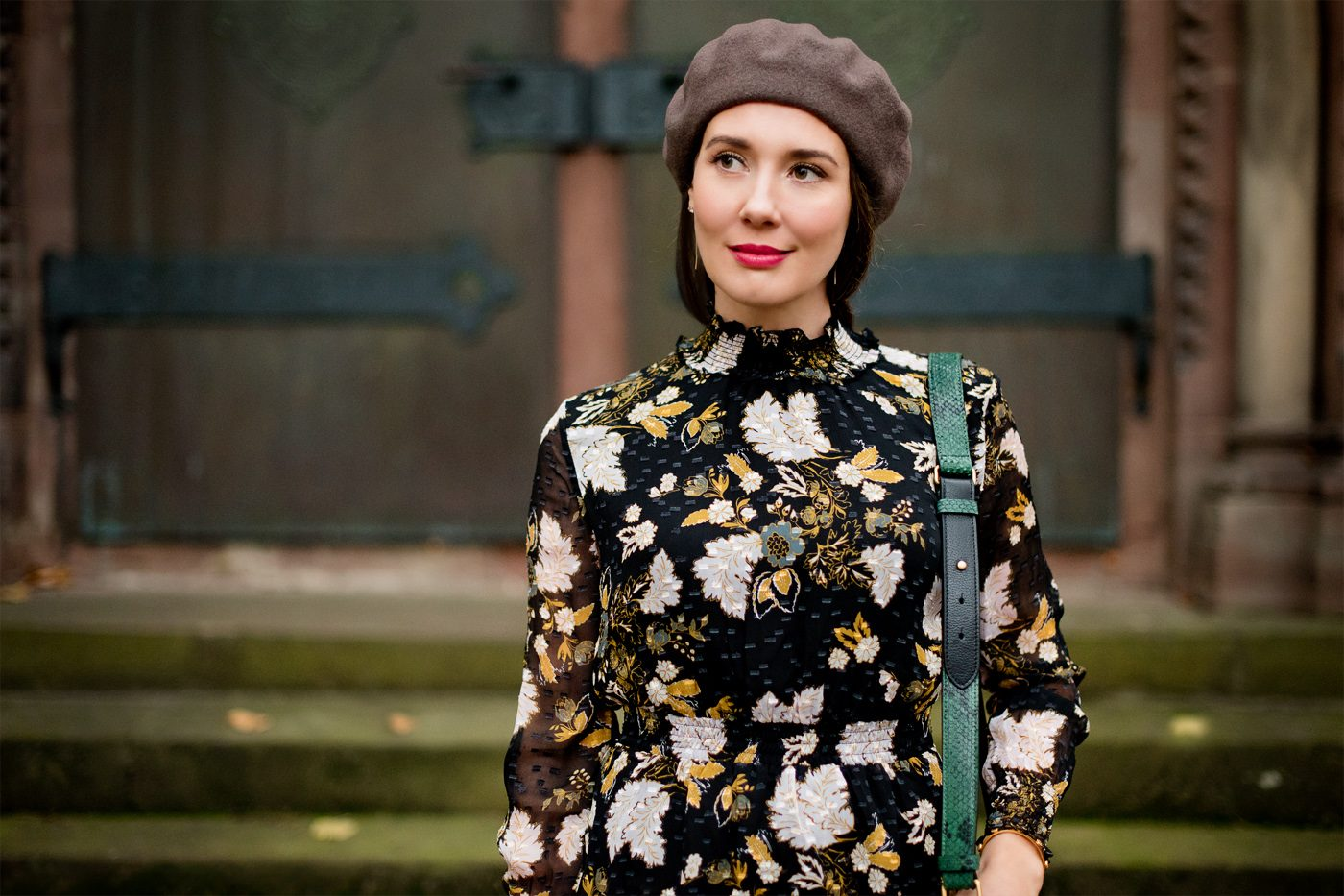Outfit: Floral Silk Dress