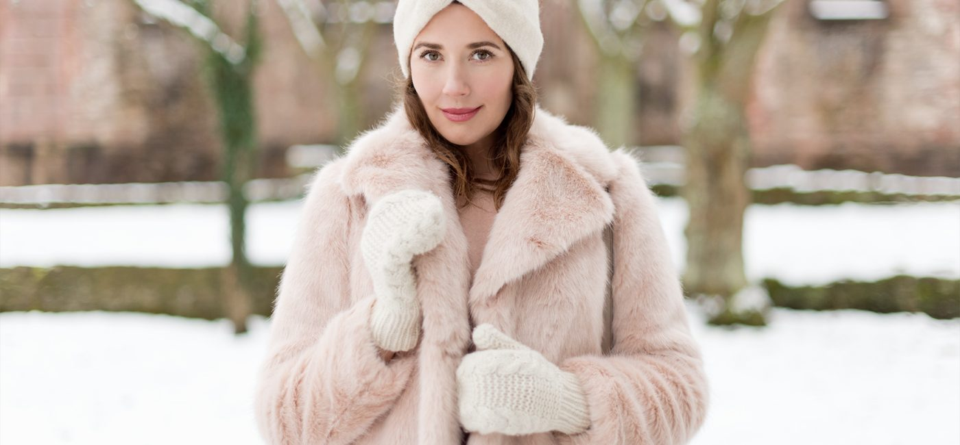 Outfit: Pink Faux Fur Jacket