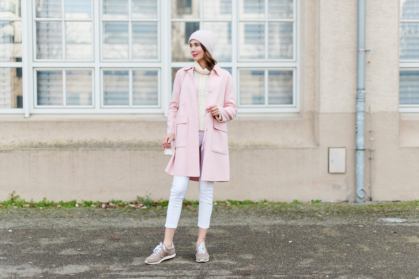 Outfit: Shades of Pink and White