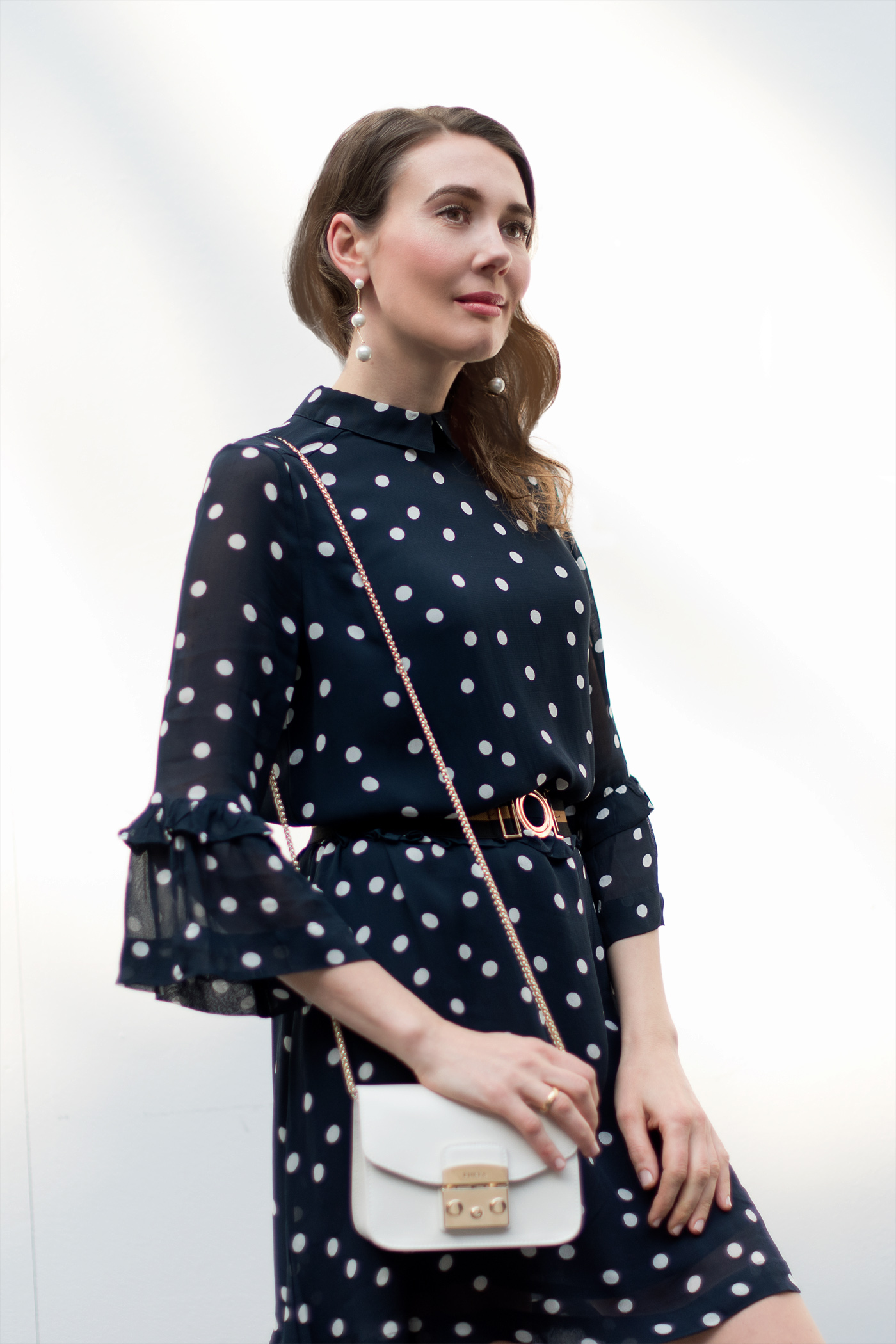 Ganni-Polka-Dots-Kleid-dress-furla-mini-springlook