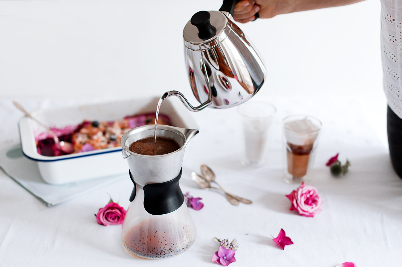 Food: Gratin of Summer Berries & Leopold Vienna Slow Coffee Maker Give away