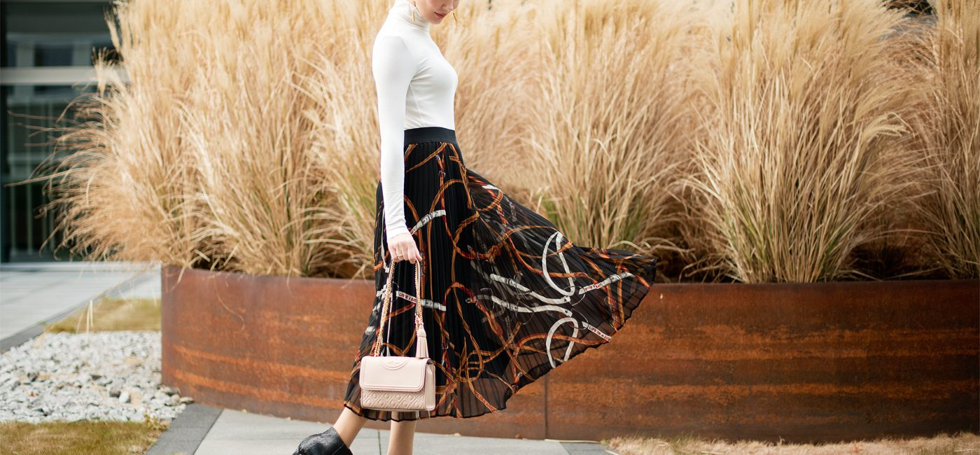 Outfit: Pleated Maxi Skirt