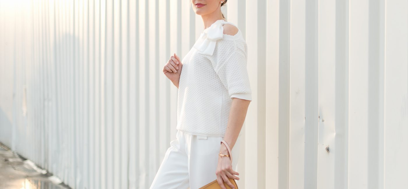 Outfit: Soft White and Mediterranean Yellow