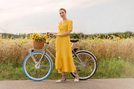 sommerkleid-sandro-paris-swapfiets-fahrradverleih-nachhaltigkeit-karlsruhe-fashionblog