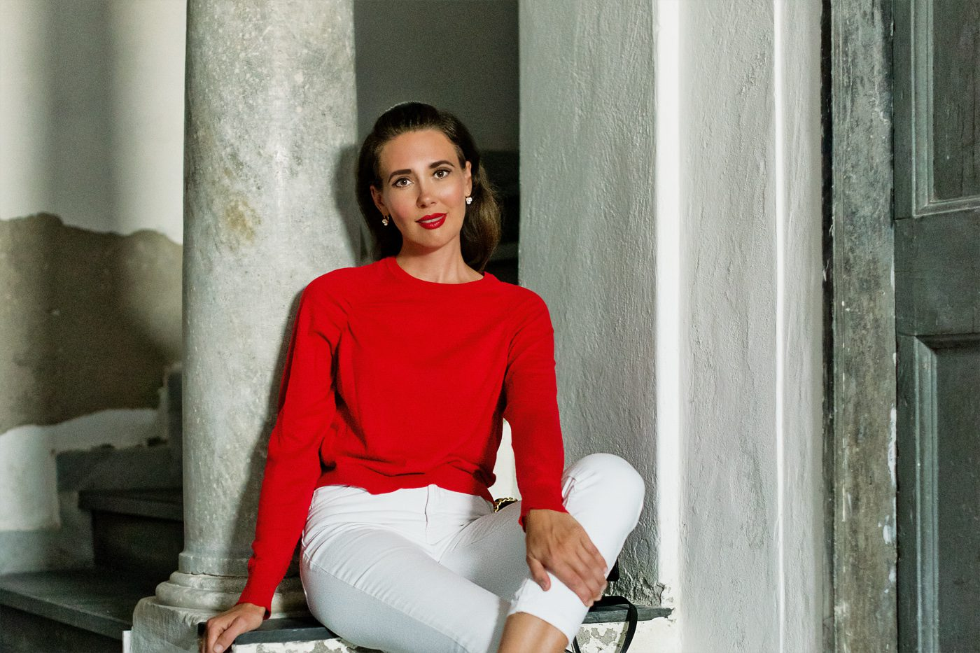 Outfit: Red & White Look
